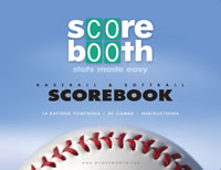 Baseball scorebook from Scorebooth